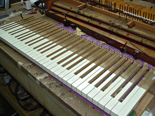 Restored Keys for an Antique Reed Organ