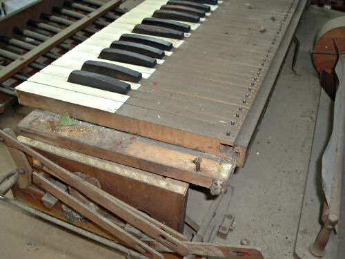 The Dirt that can build up inside a 100 year old reed organ