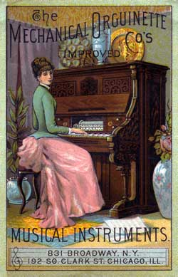 The Aeolian Organ - Mechanical Orguinette Company Catalogue - New York - 1886 - Link to History of the Pianola